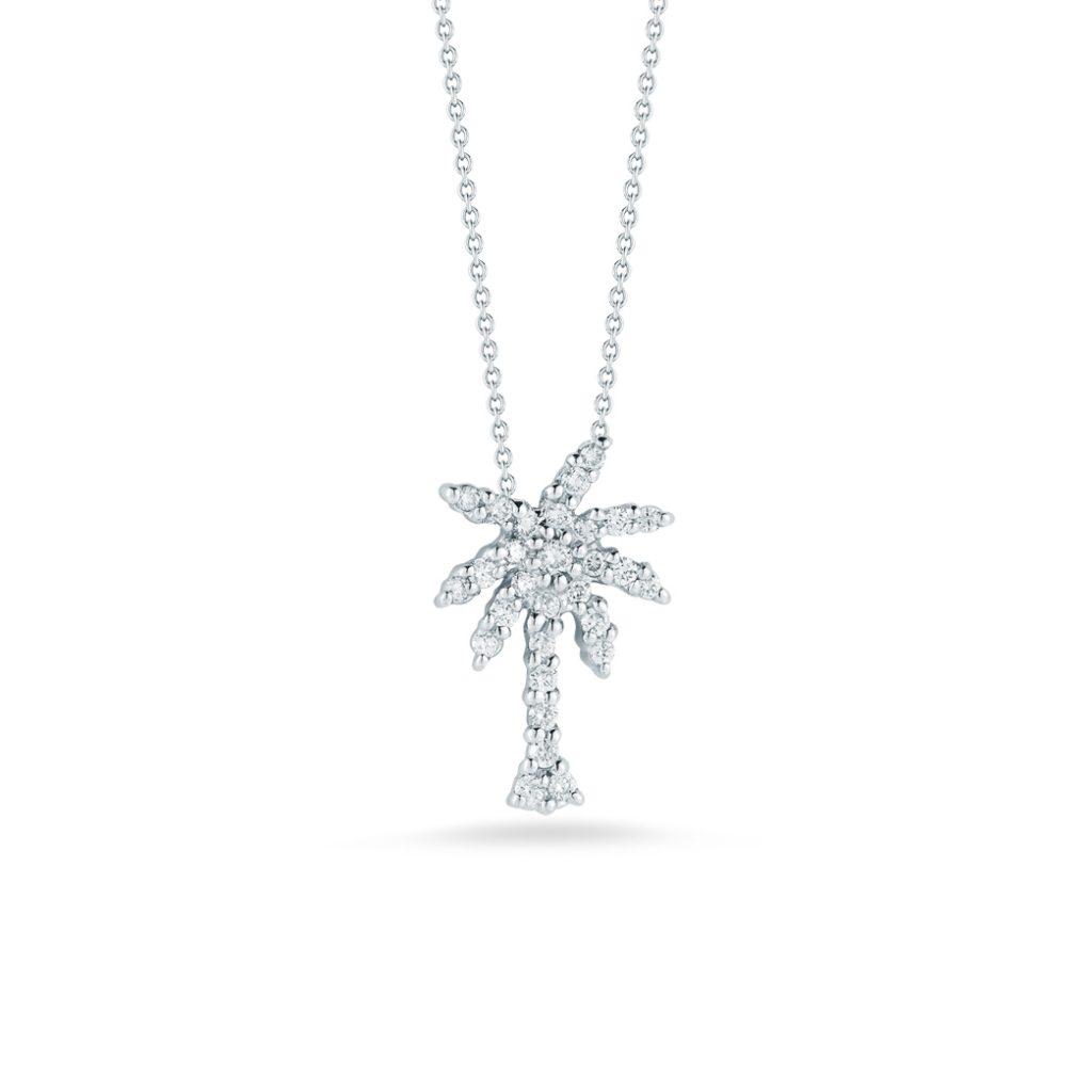 Small Palm Tree Pendant with Diamonds 001236AWCHX0