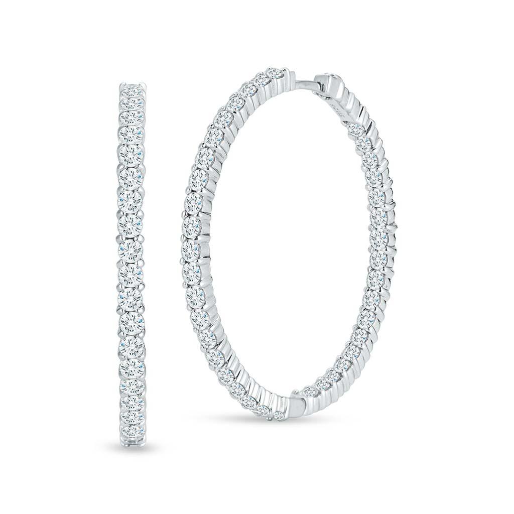 d0ca89717 Large Inside Outside Diamond Hoop Earrings 001615AWERX0