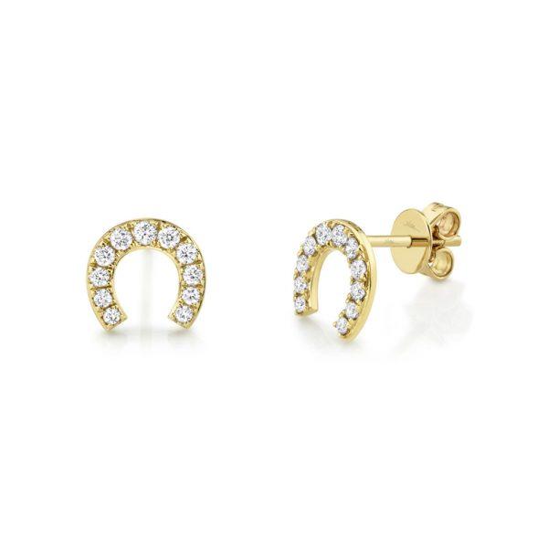 Diamond Horseshoe Stud Earring
