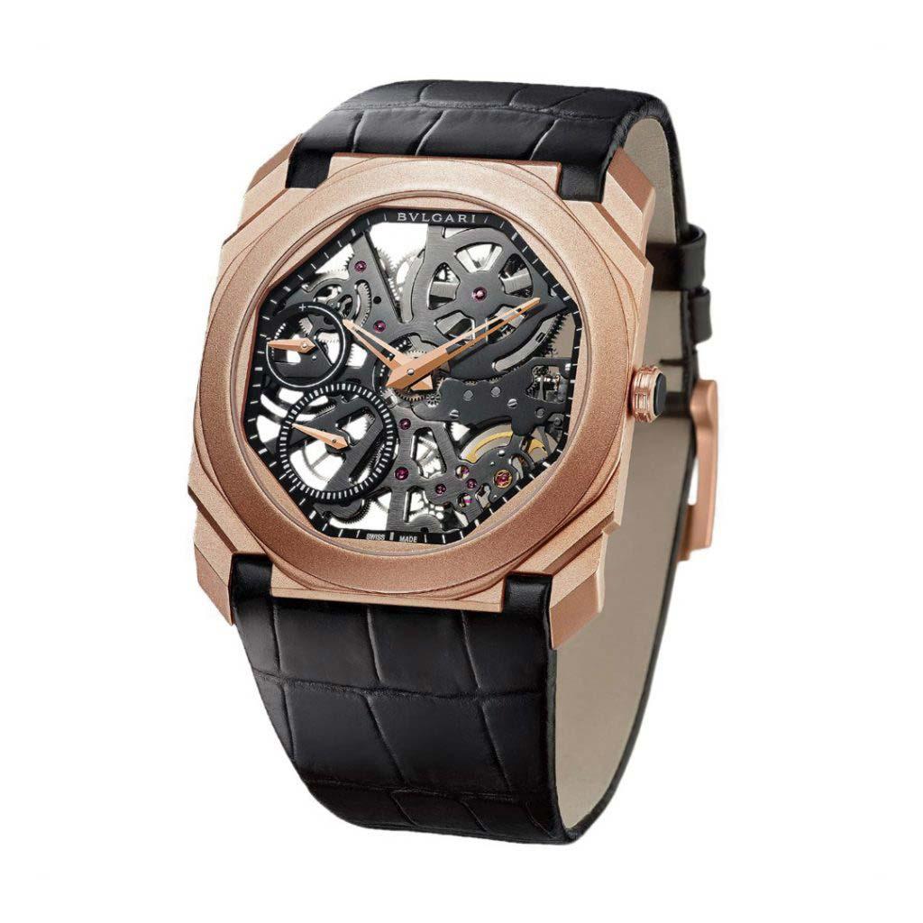 Octo Finissimo Skeleton Watch 102946 BGO40PGLXTSK
