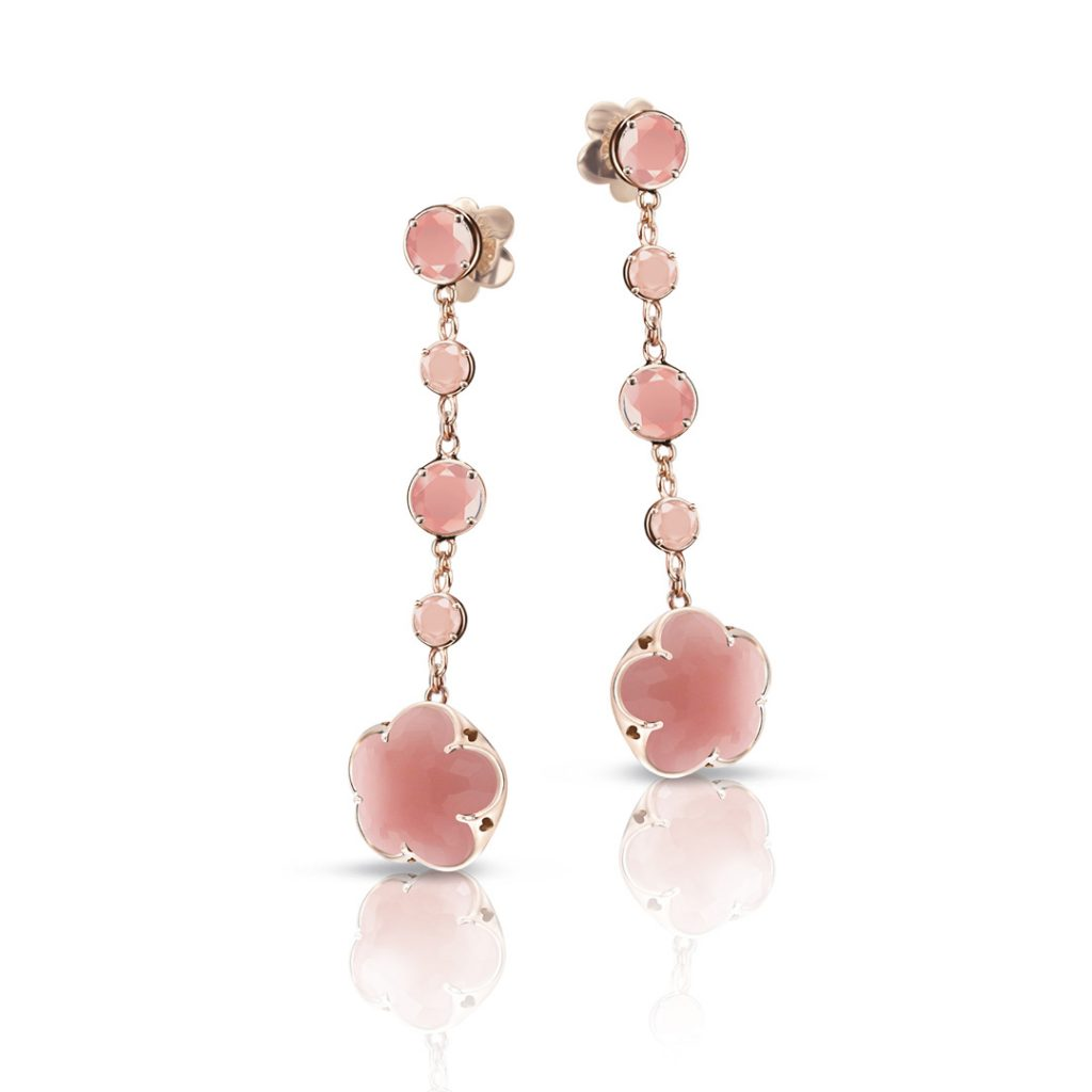 Bon Ton Chalcedony and Diamond Earrings