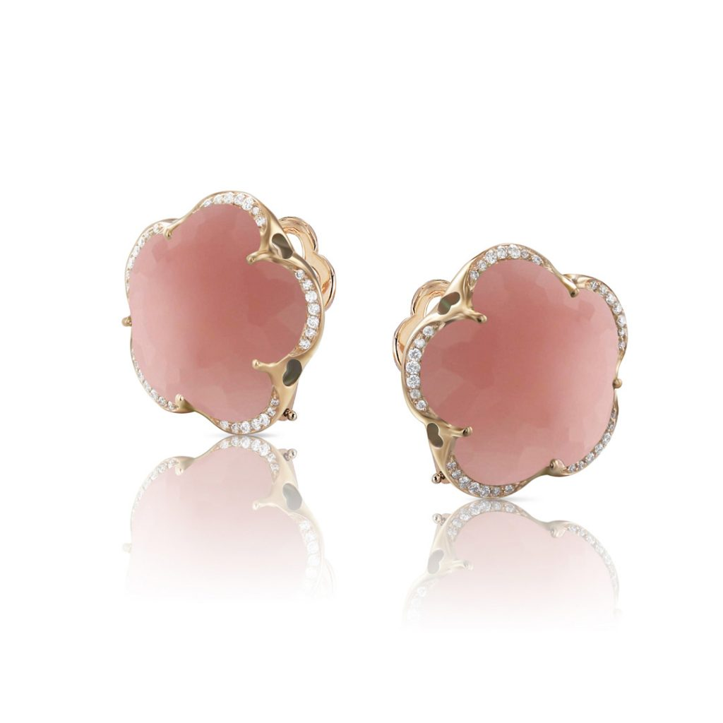 Bon Ton Diamond and Chalcedony Earrings