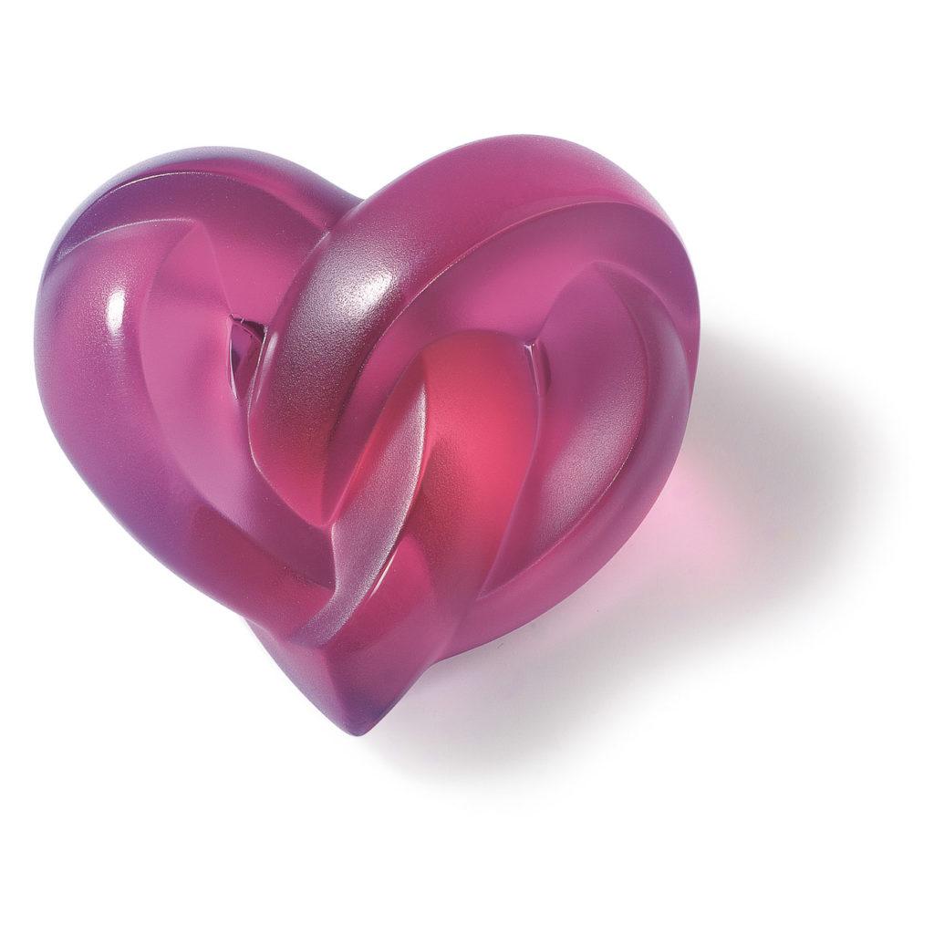 Heart Paperweight, Fuchsia