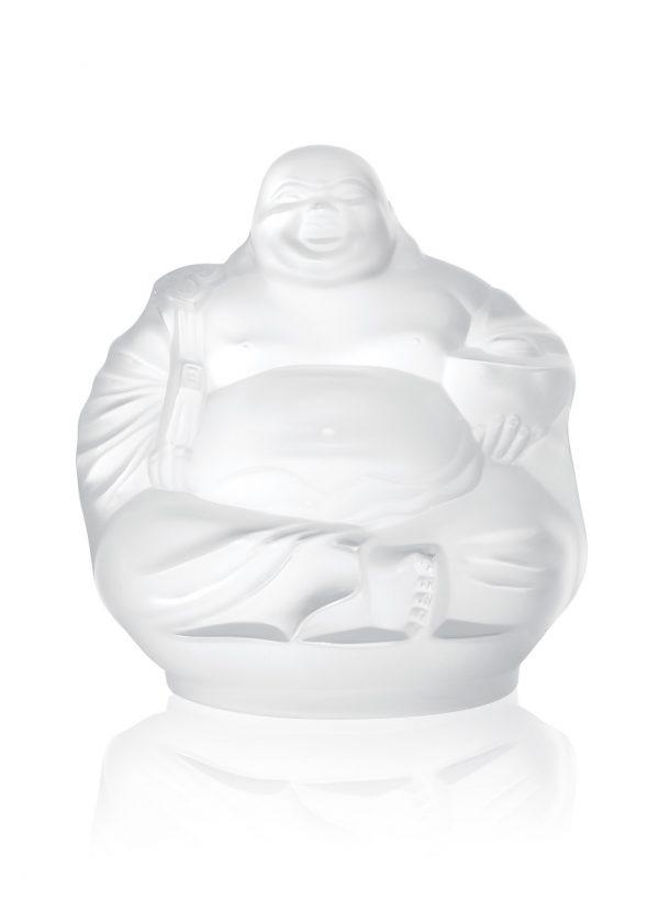 Happy Buddha Figure, Clear