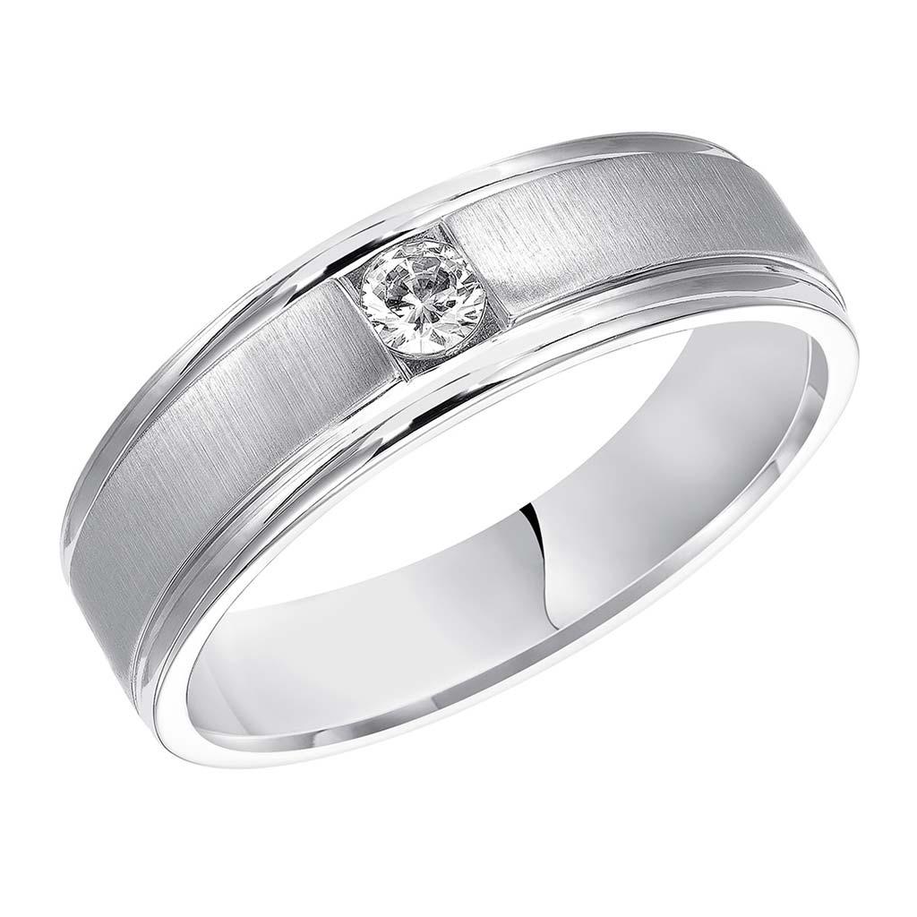 Mens Wedding Bands With Diamonds.Goldman 7mm Classic Diamond Men S Wedding Band