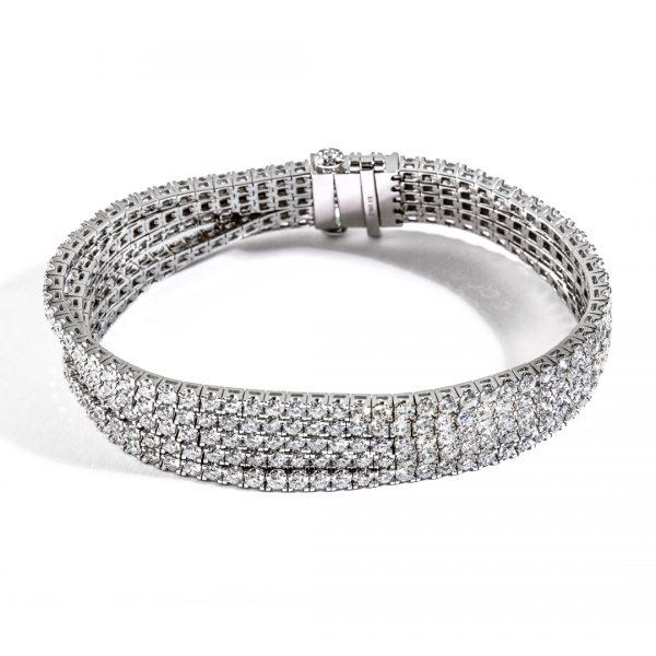 5 Row Unjoined Diamond Bracelet DB50588R01H18W