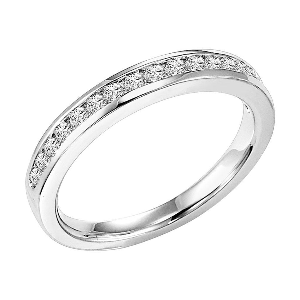 Goldman Contemporary Diamond Wedding Band