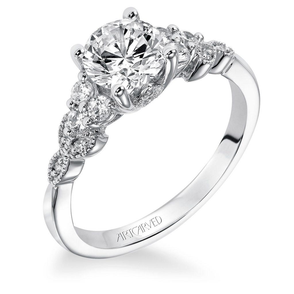 Adeline Vintage Diamond Engagement Ring