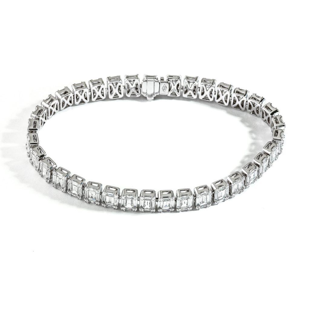 Baguette Cluster Diamond Bracelet 31479