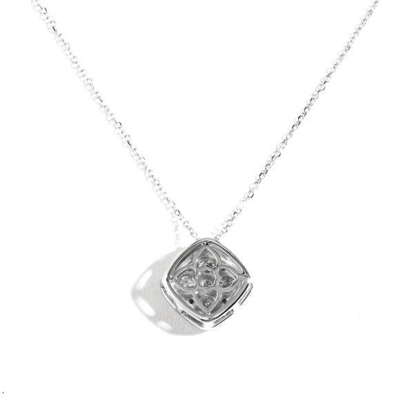 Cushion Cluster Halo Diamond Pendant