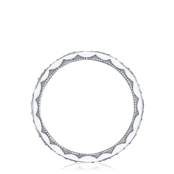 Sculpted Crescent Diamond Wedding Band