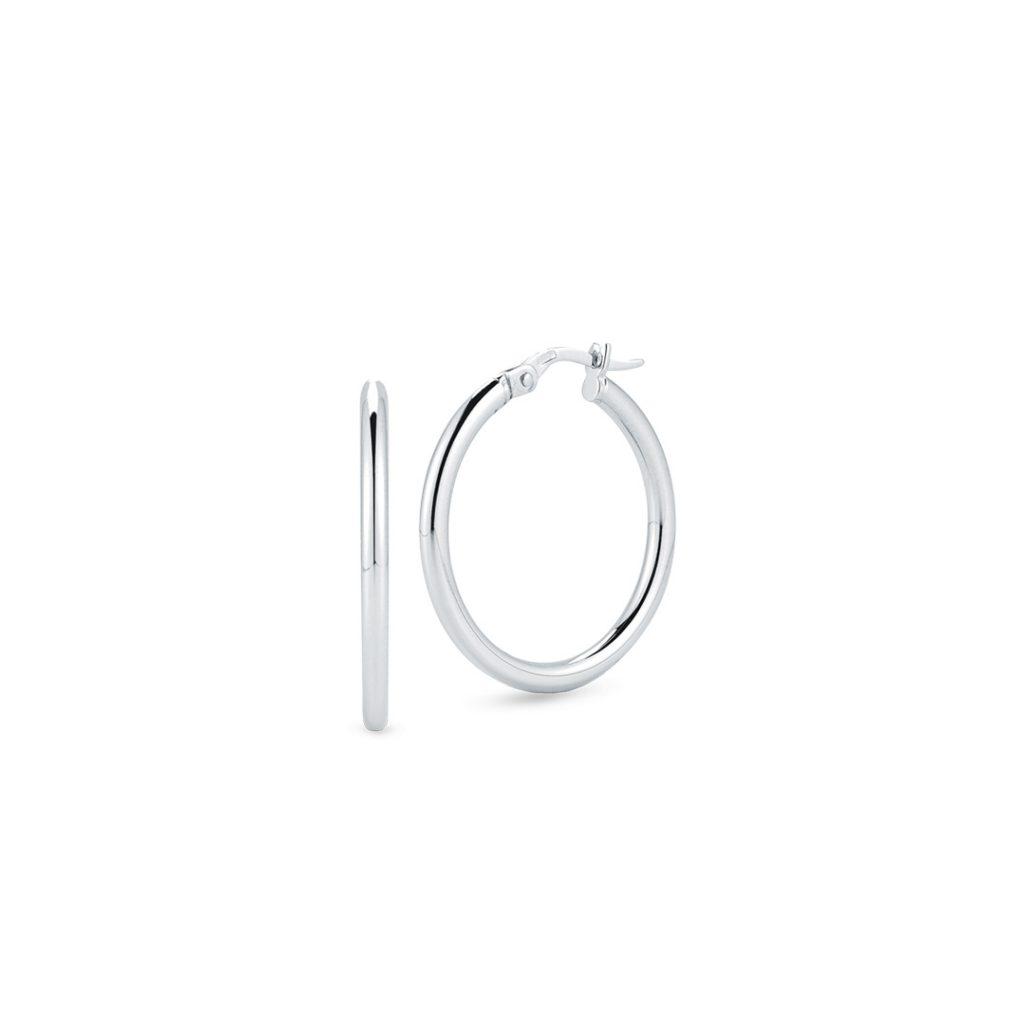 Small Round Hoop Earrings 556025AWER00