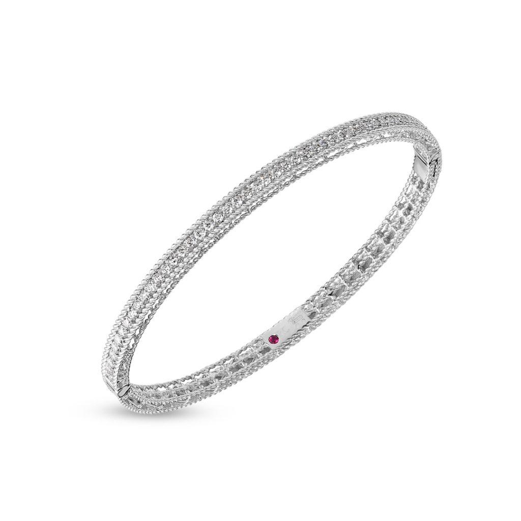 Princess Oval Bangle with Diamonds 7771359AWBAX