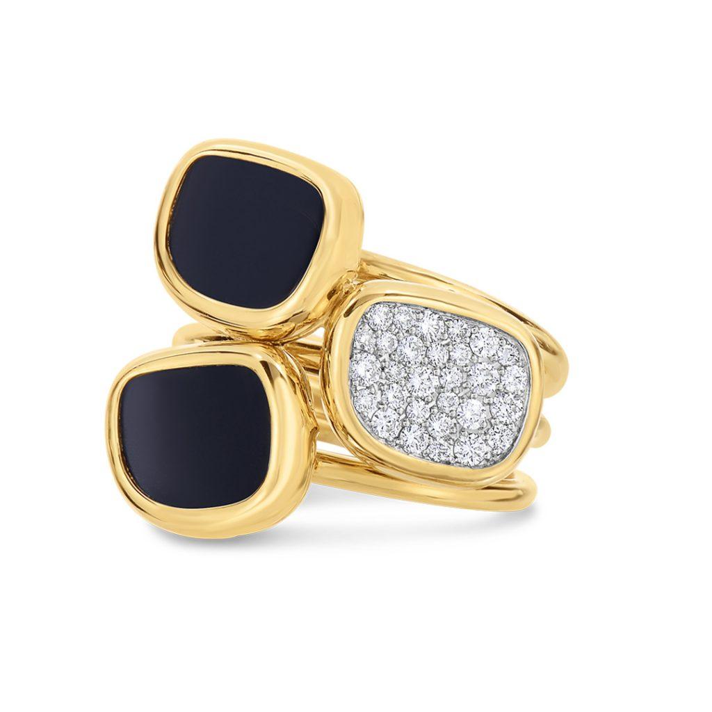 Ring with Black Jade and Diamonds 888648AJ65JX