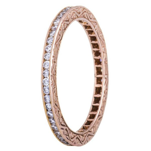 Simple Elegance Rose Gold Channel Diamond Ring