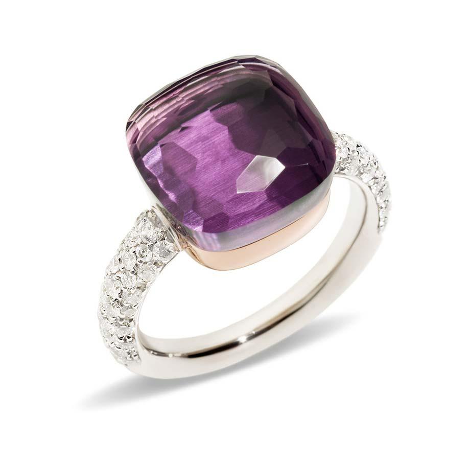 Nudo Maxi Amethyst and Diamond Ring A.B401/B9O6OI