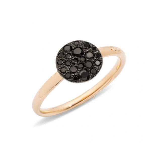 Sabbia Petite Black Diamond Ring A.B407/O7/BB