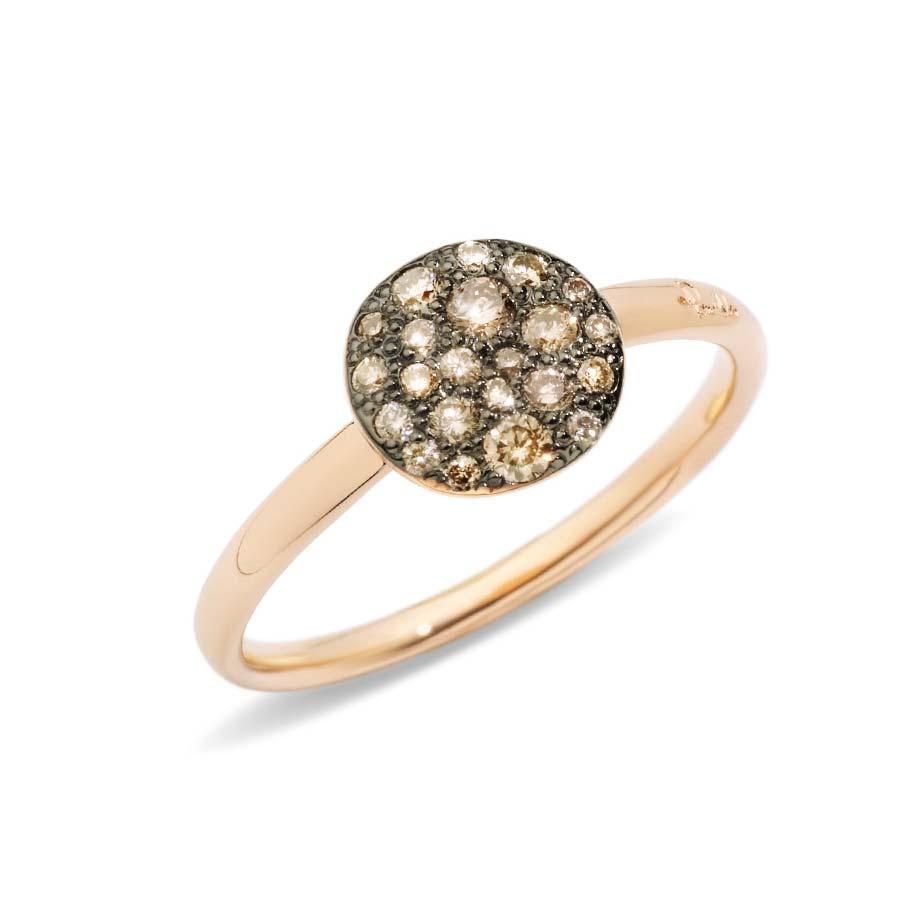 Sabbia Petite Champagne Diamond Ring A.B407/O7/BR