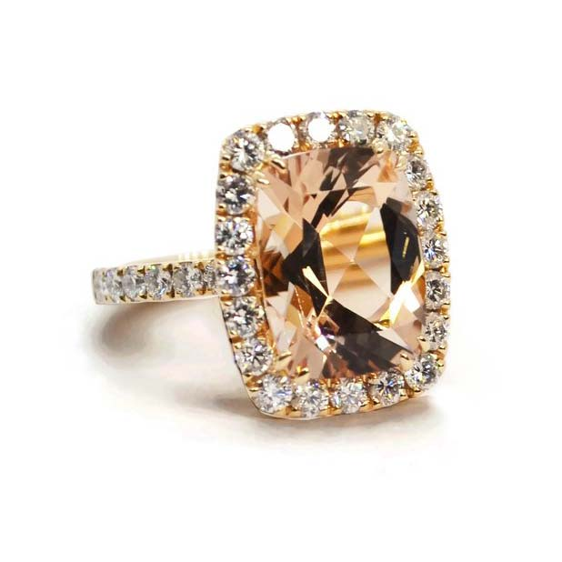 Dynamite Cocktail Ring with Morganite and Diamonds A1301RM11