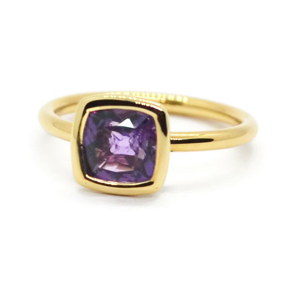 Gaia Small Stackable Ring with Amethyst A1701GA