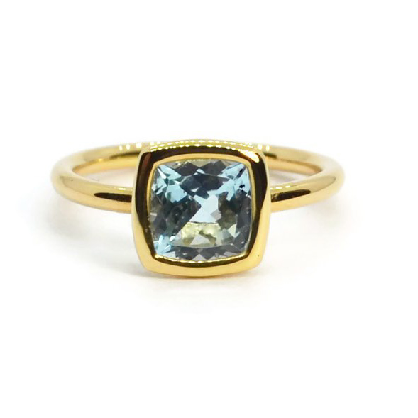 Gaia Small Stackable Ring with Blue Topaz A1701GU