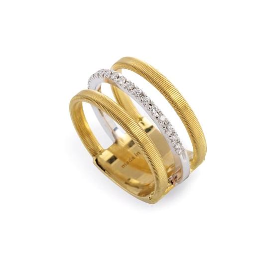 Three Row Pave Diamond Ring AG326-B-YW