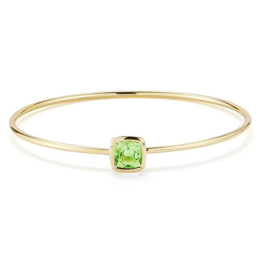 Gaia Bangle Bracelet with Peridot B1701GO