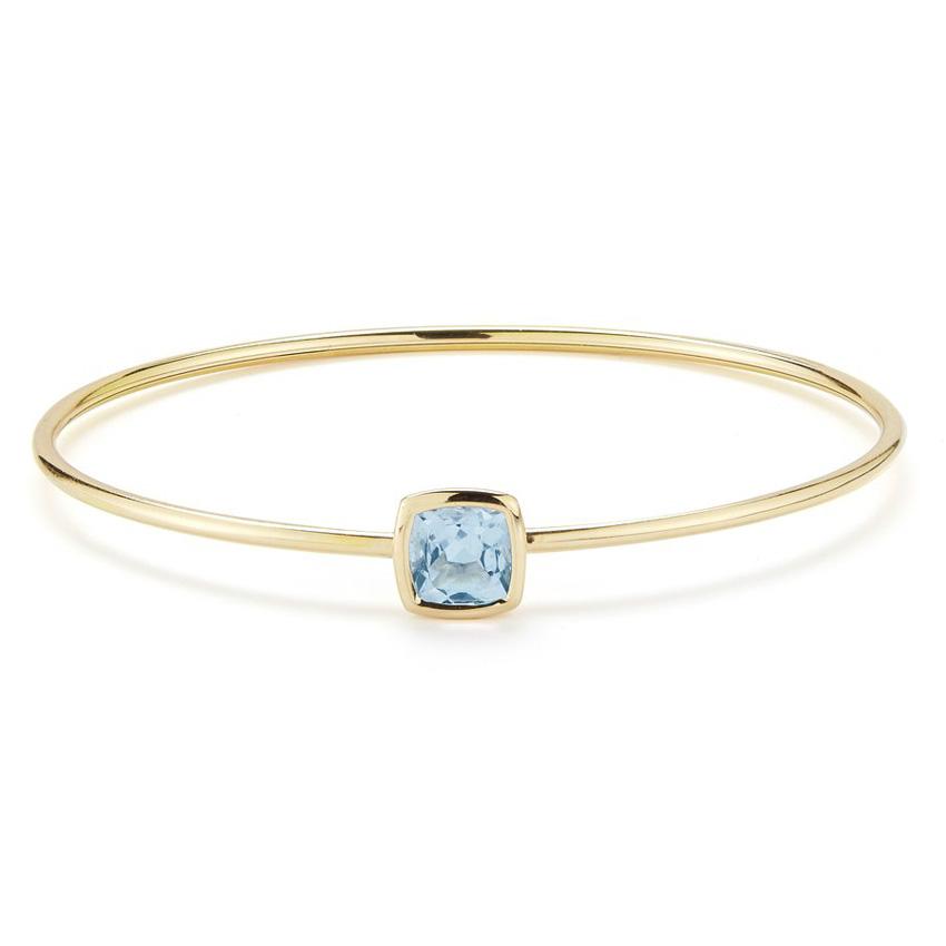 Gaia Bangle Bracelet with Blue Topaz B1701GU