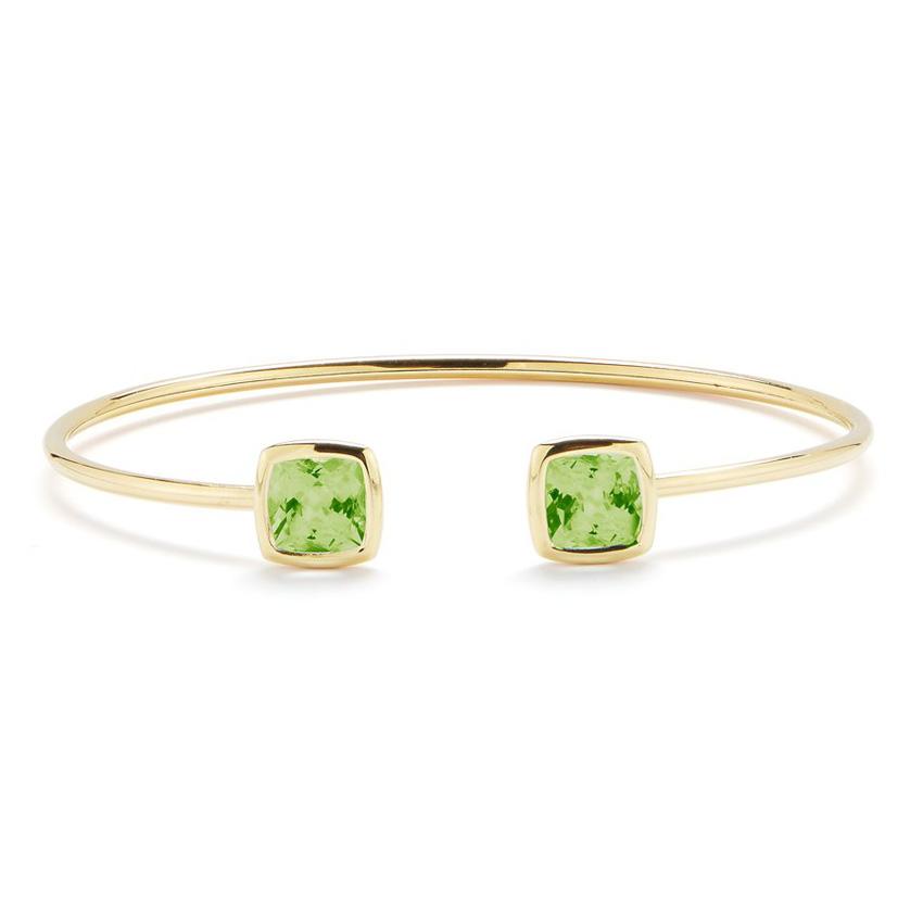 Gaia Bangle Bracelet with Peridot B1702GO