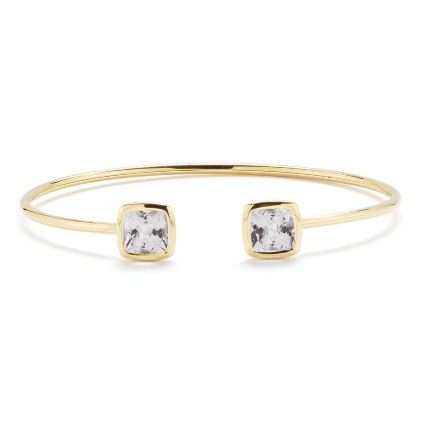 Gaia Bangle Bracelet with White Topaz B1702GW