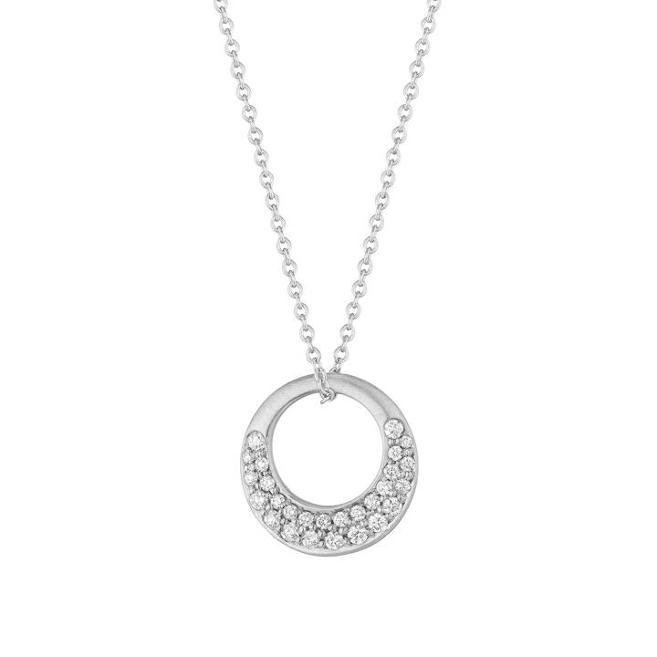 Interlinks pave diamond pendant in white gold zadok interlinks pave diamond pendant in white gold aloadofball Images