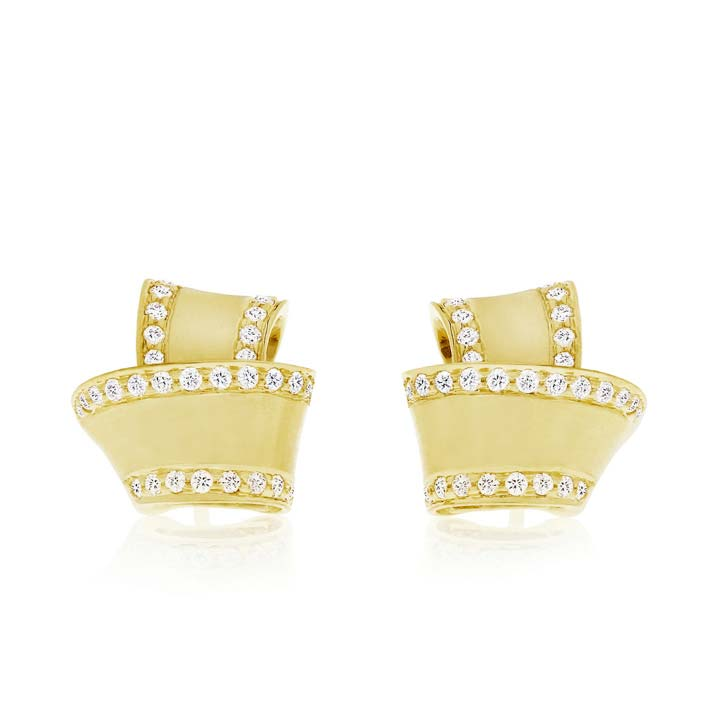 Knot Diamond Trim Stud Earrings BC535Y8D