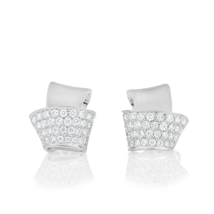 Knot Pave Diamond Stud Earrings BC539W8D