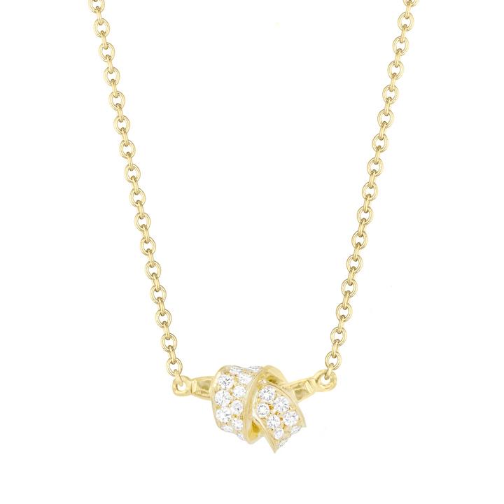 Mini Knot Pave Diamond Pendant BC581Y8D