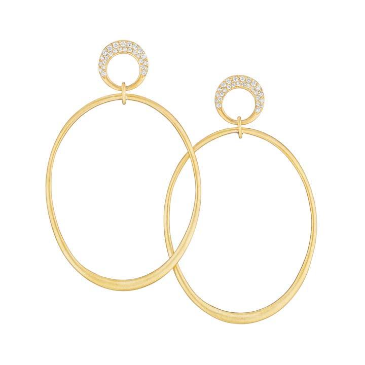 Jumbo Interlinks Pave Diamond Earrings BC930Y8D