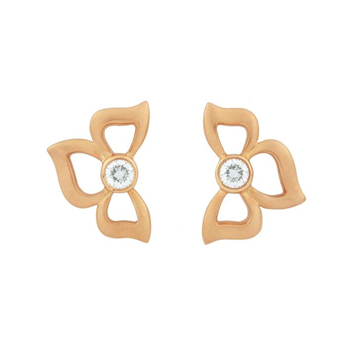 Florette Diamond Stud Earrings in Rose Gold BD834R8D
