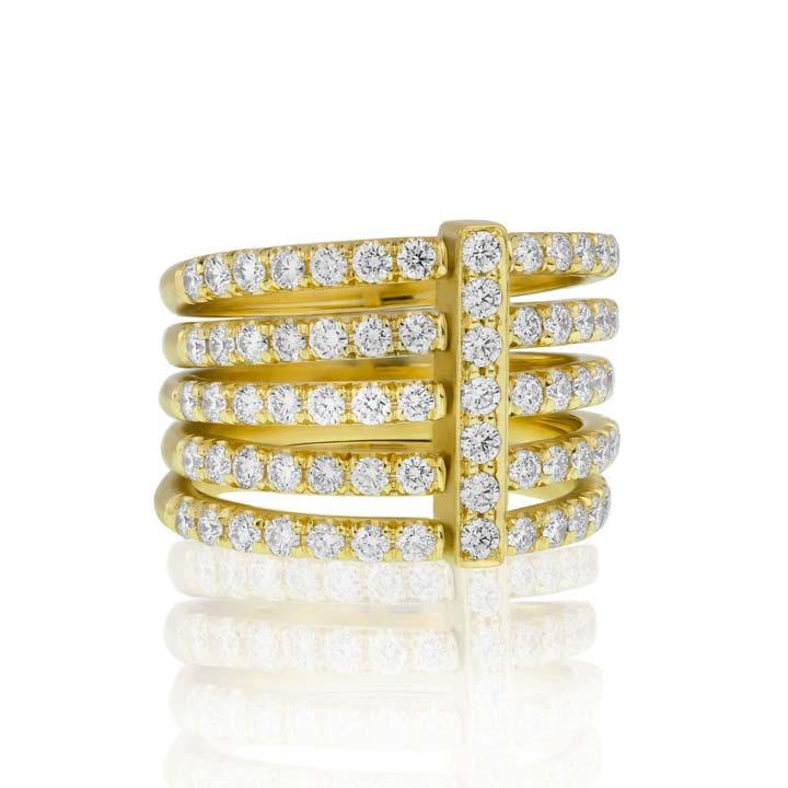 Moderne Pave Diamond Penta Ring BG210Y8D