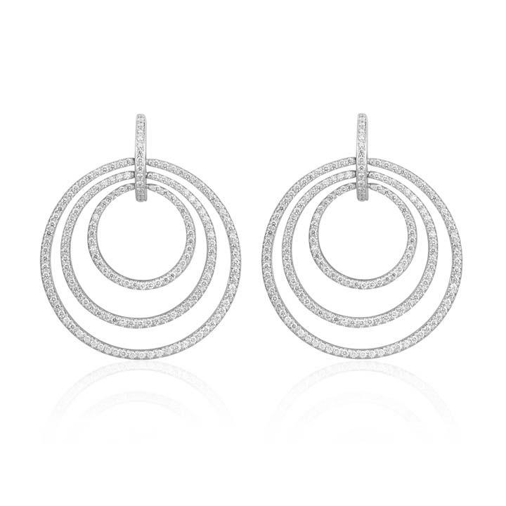 Large Moderne Pave Diamond Earrings BG236W8D