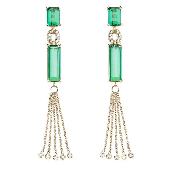 Green Tourmaline Bespoke Earrings BG336Y8GTD