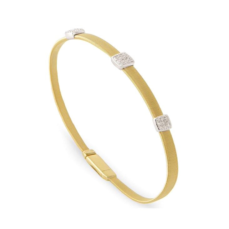 Three Station Diamond Bracelet BG731-B2-YW