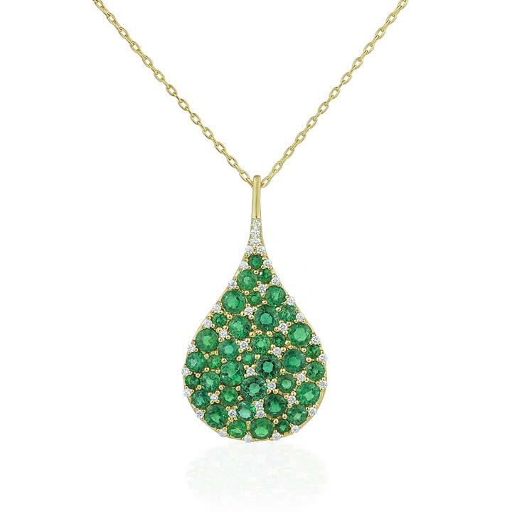 Emerald Tear Drop Bespoke Pendant BG750Y8ED