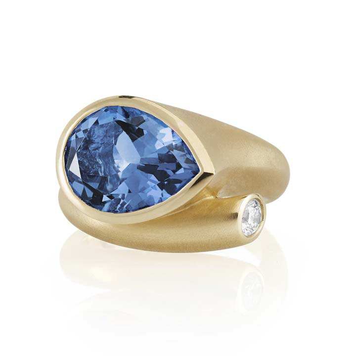 Large Whirl London Blue Topaz Ring BG802Y8BLD