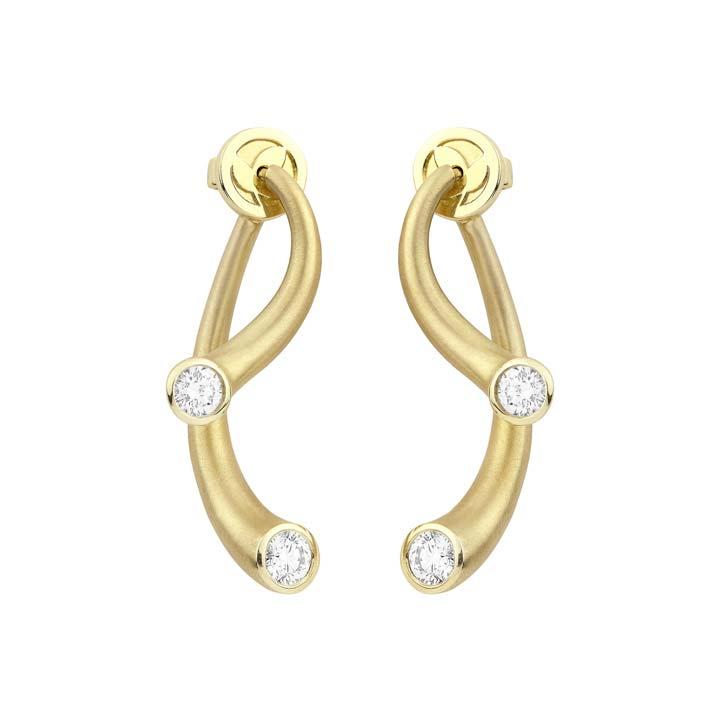 Whirl Diamond Earrings BG830Y8D