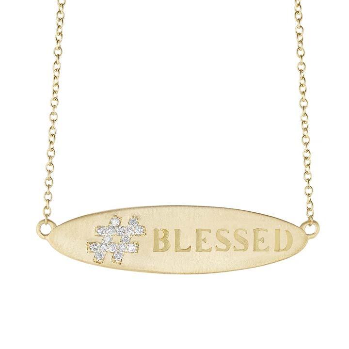 Blessed Hashtag Pendant CA163Y8D