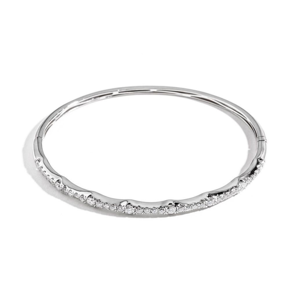 Crescent Diamond Bangle
