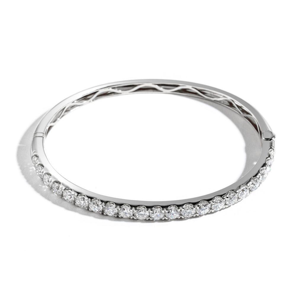 Medium Split Prong Diamond Bangle
