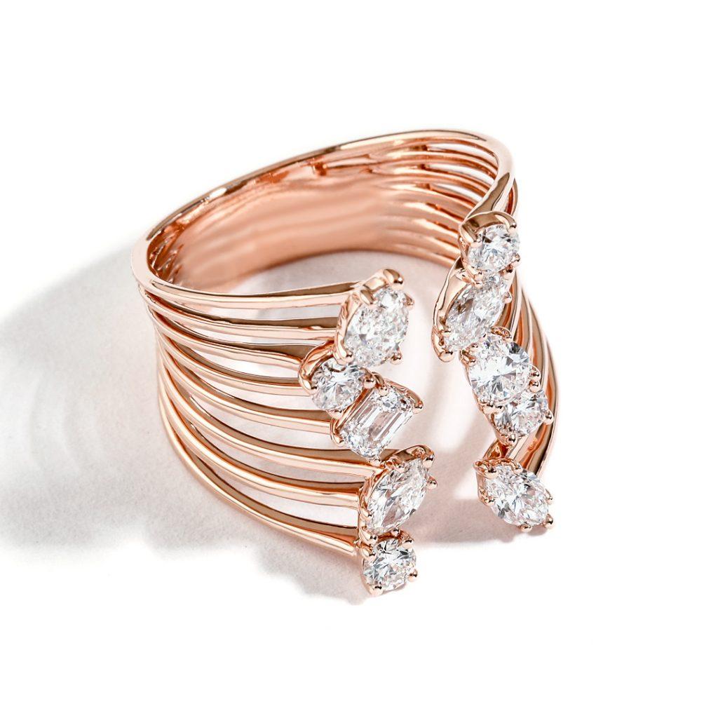 Split Shank Diamond Right Hand Ring DLR200329