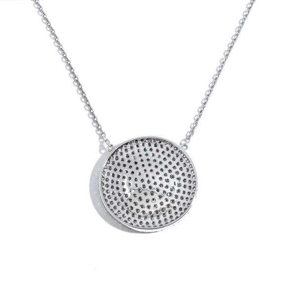 Diamond Disc Pave Pendant 8078-P