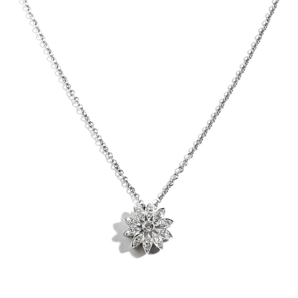 Sunburst Diamond Pendant