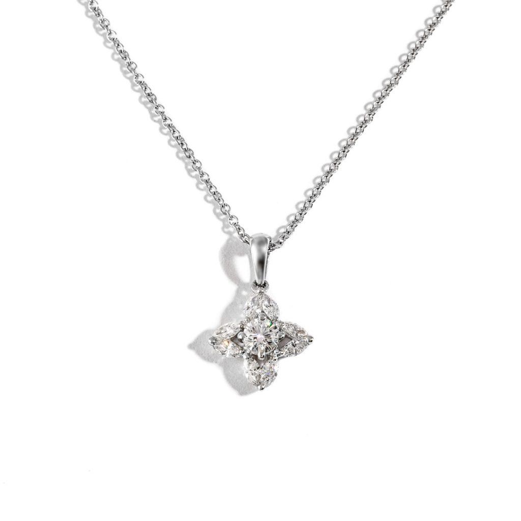Petals Diamond Pendant